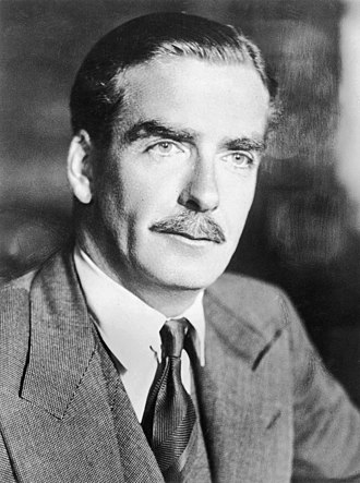 Eden's decision to invade Egypt in 1956 revealed Britain's post-war weaknesses. Anthony Eden (retouched).jpg