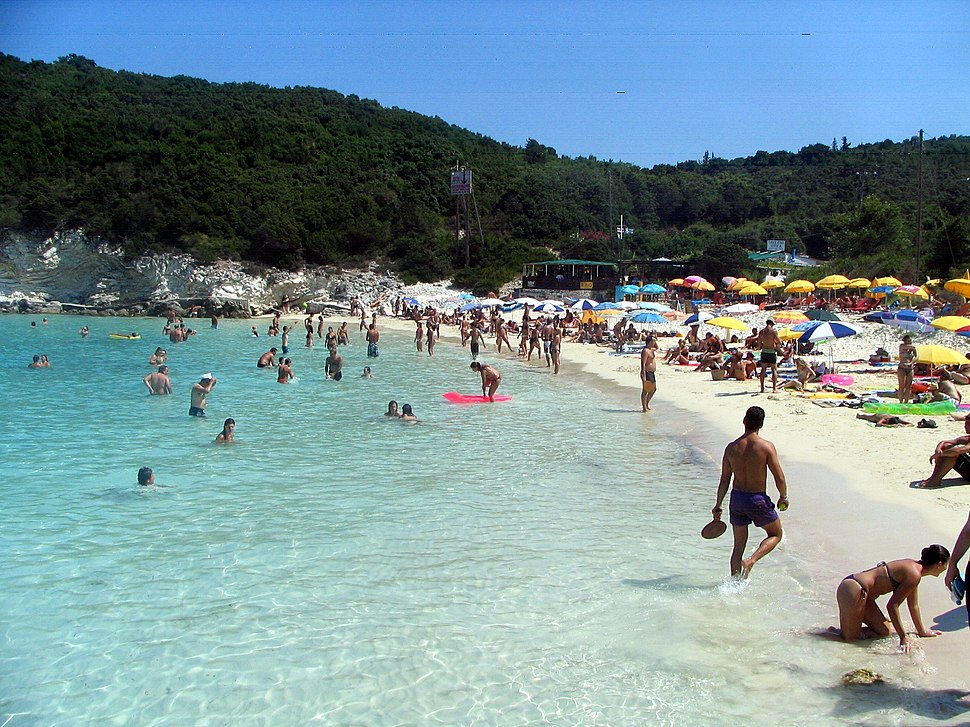 Antipaxos vrika beach overview bgiu