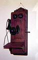 Antique Wall telephone w hand crank.JPG