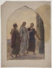 Olieskitse til Vandringen til Emmaus