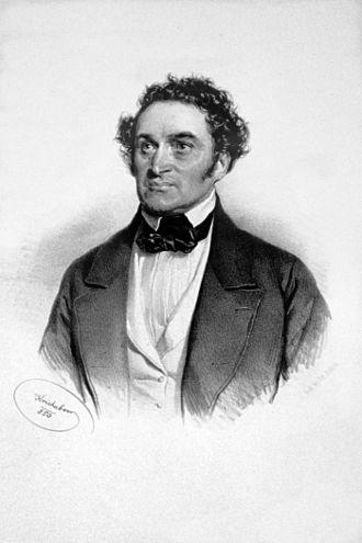 Anton Haizinger - Anton Haizinger. Lithograph by Josef Kriehuber (1850).