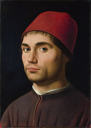 Male portraits by Antonello da Messina - c.1476 (National Gallery London)