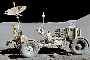 Lunar rover - The Apollo 15 Lunar Roving Vehicle on the Moon in 1971
