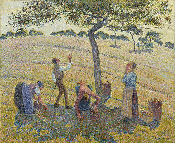 Les chataigniers a Osny (1888) by anarchist painter Camille Pissarro, an example of blending anarchism and art