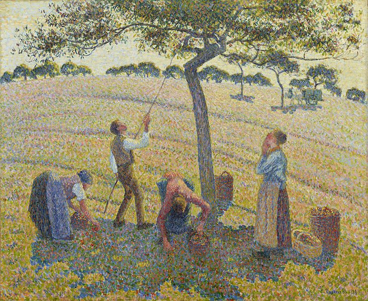 File:Apple Harvest by Camille Pissarro.jpg