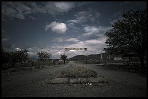Arakül - Gate to an almost abandoned village Arakel