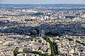 Arc de Triomphe de l'Étoile from the Eiffel Tower, 23 July 2015.jpg
