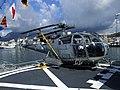 Argentine Navy Alouette III 3-H-102 onboard corvette ARA Rosales. (8102977405).jpg