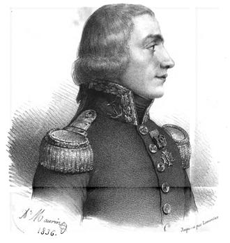 Aristide Aubert Du Petit Thouars - Portrait of Du Petit Thouars by Antoine Maurin