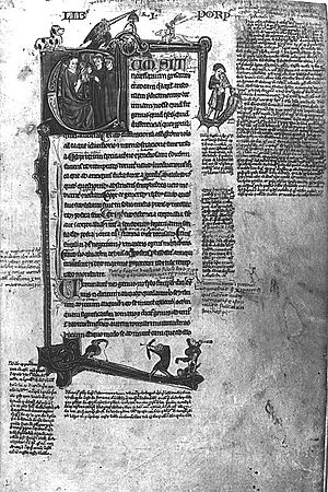 Prior Analytics - Page from a 13th/14th-century Latin transcript of Aristotle's Opera Logica.