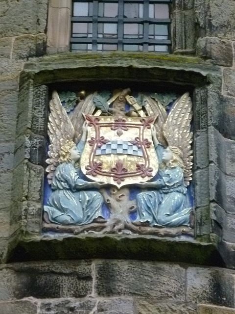Armorial tablet of the Stewarts at Falkland Palace, Fife Armorial tablet of the Stewarts, Falkland Palace, Fife Scotland.jpg