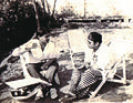 Arnab Jan Deka with Dr Bhupen Hazarika narrating a film script (1986).jpg