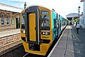 Arriva Trains Wales Class 158, 158827, Gobowen railway station (geograph 4024097).jpg
