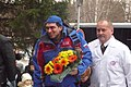 Arrival of Sergey Volkov in Star City 8 hours after landing (6382429987).jpg