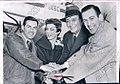 Art Devlin, Tenley Albright, Tug Wilson, Hayes Alan 1956.jpg