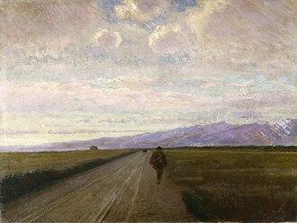 Giovanni Costa - Strada in pianura, 1890
