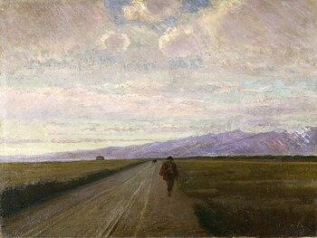 Strada in pianura, 1890 (Fondazione Cariplo)