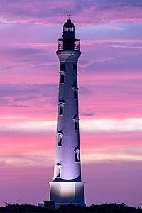 Aruba Lighthouse in pink.jpg