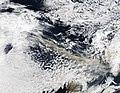 Ash plume from Eyjafjallajokull Volcano over the North Atlantic, April 15, 2010 - A2010105.1330.250m.jpg