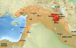 Ubicación de Asiria
