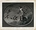 Astronomy; Venus in her chariot, drawn by doves. Engraving b Wellcome V0024880.jpg