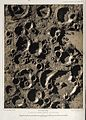 Astronomy; craters on the moon. Colour lithograph by E.M. Wellcome V0024781.jpg