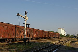 Yegorlyksky District - Train and grain elevators in Yegorlyksky District