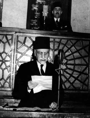 Hashim al-Atassi - Hashim al-Atassi's second inaugural address, having been elected by a unanimous vote in Parliament in December 1949 to replace the dictatorship of General Husni al-Za'im.