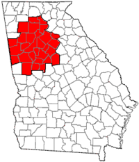 Map of the Metro Atlanta