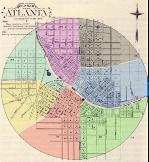 Fifth Ward (Atlanta) - Fifth Ward in purple (1871 to 1874)