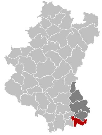 Aubange - Image: Aubange Luxembourg Belgium Map