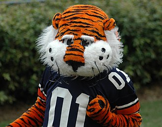 Auburn University traditions - Aubie is the Auburn Tigers mascot.