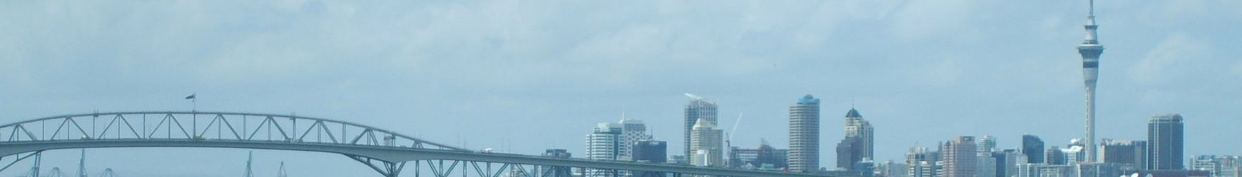 Auckland Harbour Bridge and Sky Tower