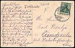 Aug. Diedrich Verlag Linde AK Gruß aus Langenhagen Adressseite 1912 von Fritz an Karl Kratzi Krimderode Harz.jpg
