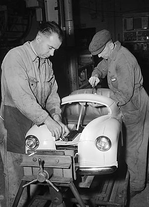 Bargoed - Austin pedal cars being made at Bargoed.