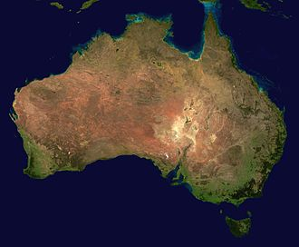 "Outback - Aerial photography of Australia showing the large arid (yellow/brown) areas that are generally considered to be ""outback"""