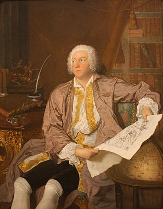 Carl Gustaf Tessin - Painting of Count Tessin by the French painter Jacques-Andé Aved.