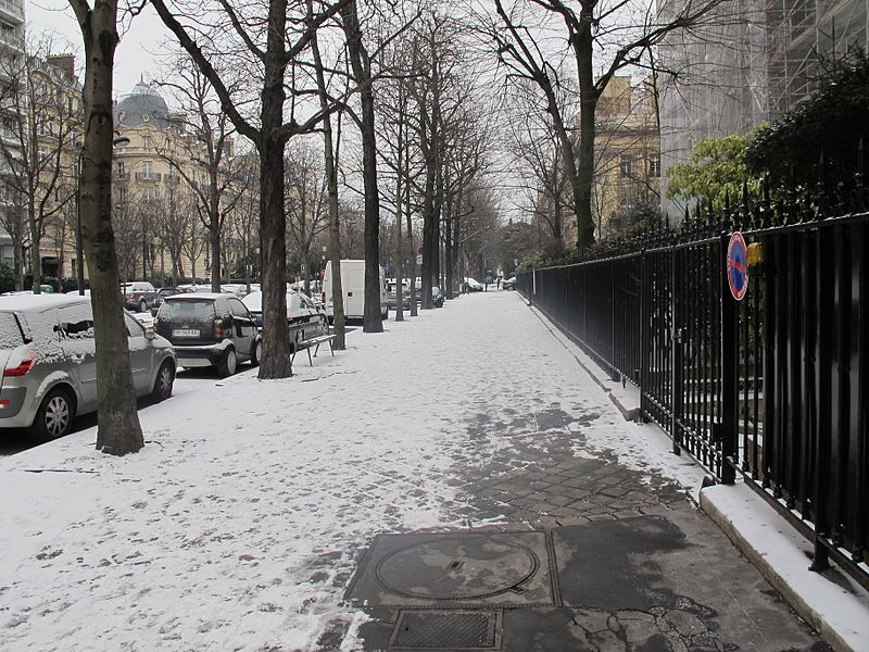 File:Avenue-Georges-Mandel-neige(Paris)3..JPG