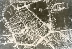 1915 Avezzano earthquake - Aerial photo of Avezzano after the earthquake