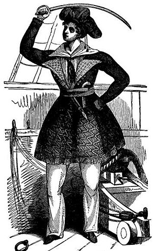 Awilda - Awilda as depicted in The Pirates Own Book, published in 1837.