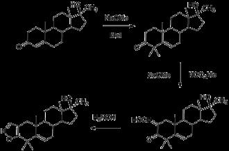 Azastene - Image: Azastene synthesis