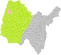 Bâgé-la-Ville (Ain) dans son Arrondissement.png