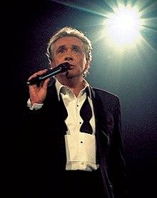 Michel Sardou à son concert à Bercy, en 1998.