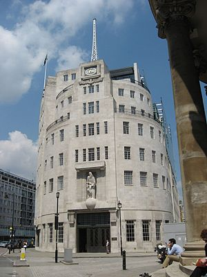 BBC National Programme - BBC Broadcasting House in London.