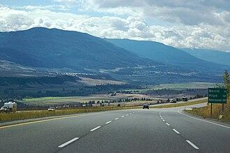 British Columbia Highway 5 - Image: BC Highway 5 Nicola Valley
