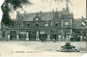 Gare de Beauvais - The station in the early 20th century