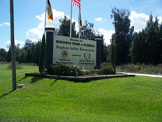 Brighton Seminole Indian Reservation - Entrance to reservation