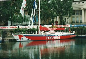 Global Challenge - Toshiba in St Katharine Docks
