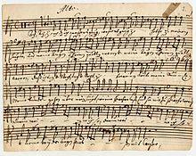 Manuskript zu Ach, dass ich Wassers, Düben-Archiv Uppsala (Quelle: Wikimedia)