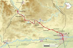 Bahnstrecke Ingolstadttreuchtlingen Wikipedia